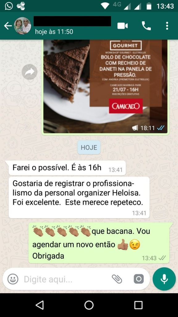 Retorno Worshop Camicado Whats